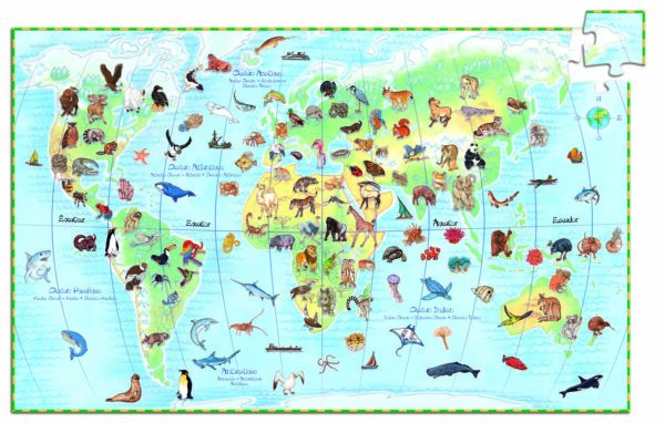Puzzle observatie - Animalele lumii - Djeco
