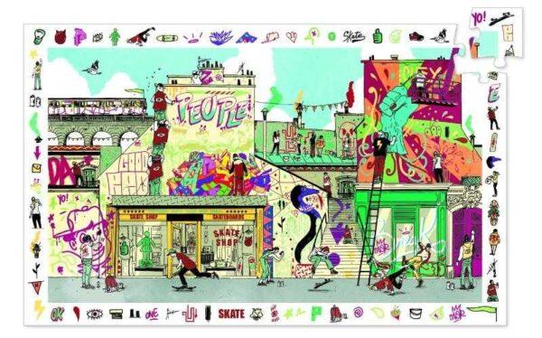 Puzzle de observatie - Street art - Djeco