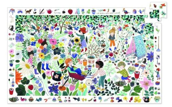 Puzzle de observatie - 1000 de flori - Djeco