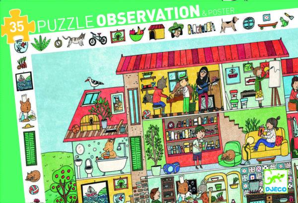 Puzzle de observatie - Casa - Djeco