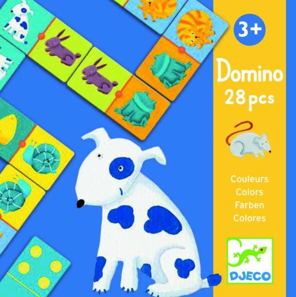 Joc Domino - Animale si culori - Djeco