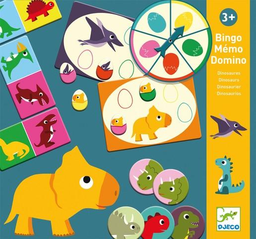 Joc de memorie - Bingo Memo Domino Dino - Djeco