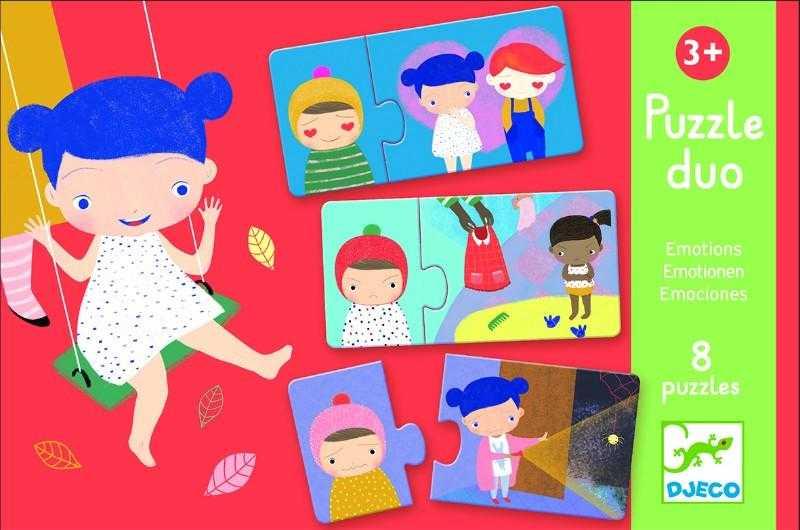 Puzzle din carton - Duo Emotii - Djeco