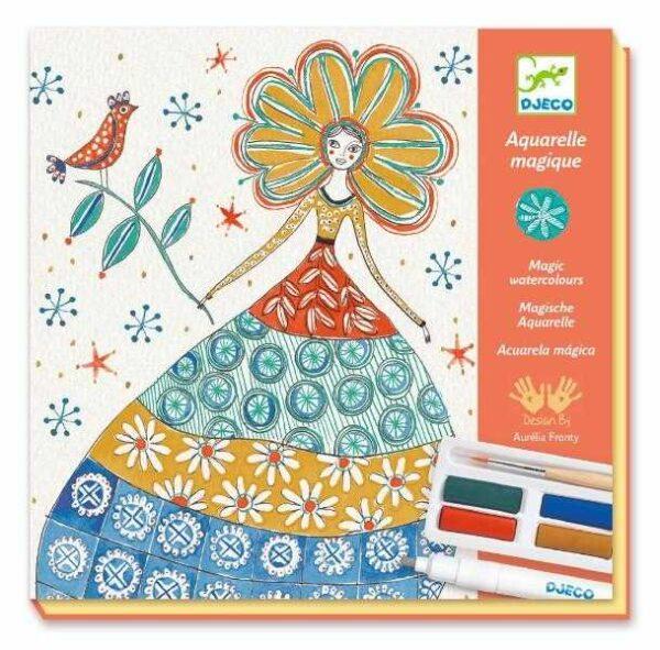 Atelier creativ de pictura - Rochii cu flori - Djeco