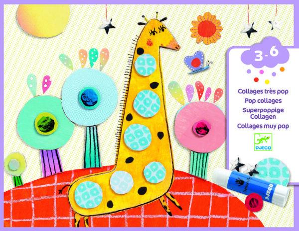 Joc creativ - Colaje Animale Hazlii - Djeco