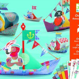 Joc de creativitate - Origami - Construim barcute - Djeco