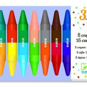 Set de creioane de colorat duble - Djeco