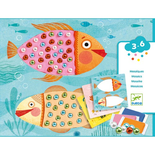 Atelier creativ - Mozaic cu plastilina si margele - Djeco