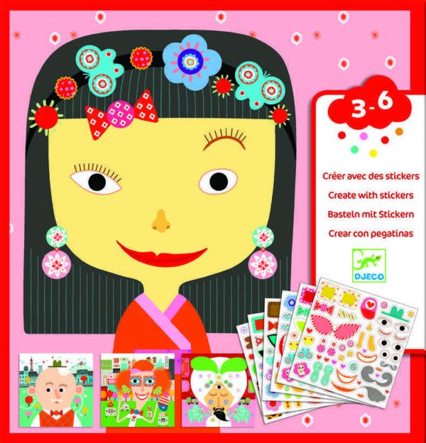 Joc creativ - Creeaza portrete - Djeco