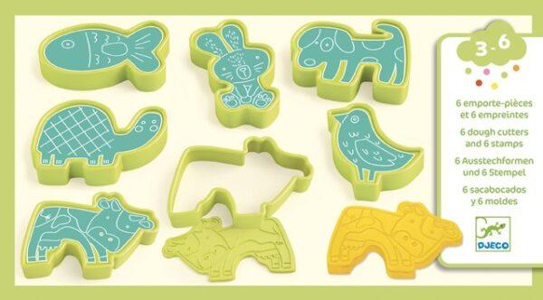 Forme pentru plastilina si stampile - Primele animale - Djeco