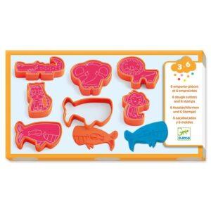Forme pentru plastilina si stampile - Animale salbatice - Djeco