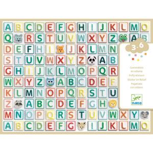 Abtibilduri litere tipar - Djeco