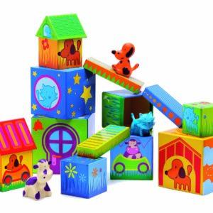Cuburi de construit cu animale - Cubanimo - Djeco