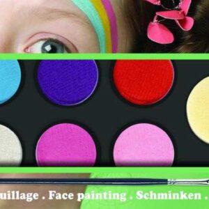 Set culori pentru pictura pe fata - Pastel - Djeco