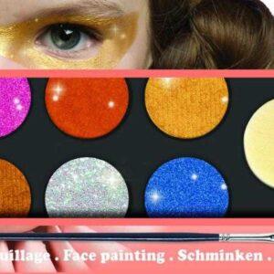 Culori metalice pentru pictura pe fata - Djeco