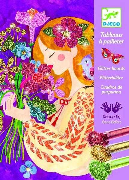 Atelier creativ cu sclipici - Parfumul florilor - Djeco