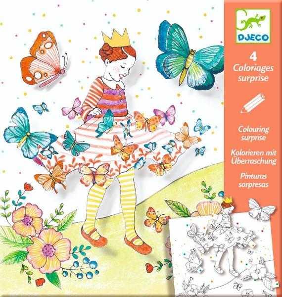 Planse de desenat cu surprize - Lady butterfly - Djeco