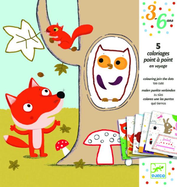 Deseneaza punct cu punct - Animale - Djeco