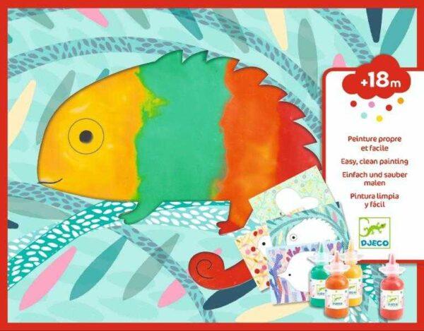Set creativ pentru bebe - Apasa si picteaza - Djeco