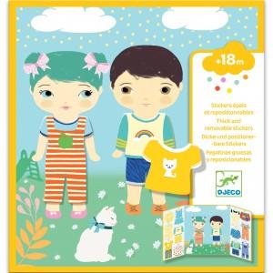 Abtibilduri repozitionabile - Invatam sa ne imbracam - Djeco