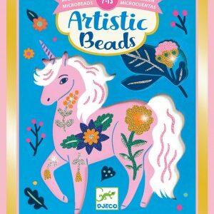 Set creativ cu margele - Animale si flori - Djeco