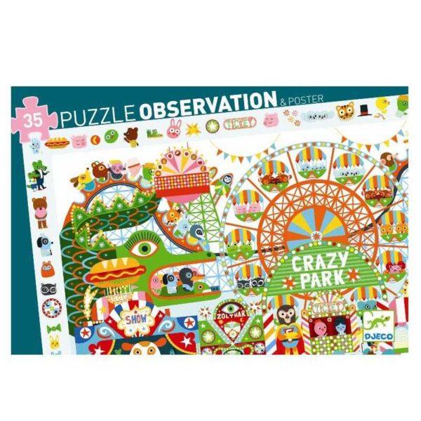 Puzzle observatie - Parcul de distractii - Djeco