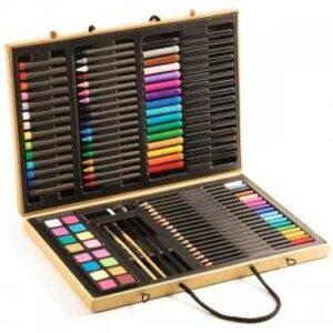 Marea cutie cu culori pentru desen - Djeco