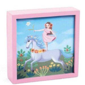 Tablou luminos - Unicornul feeric - Djeco