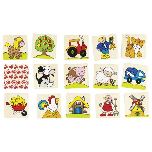 Joc de memorie pentru copii - Ferma - Goki