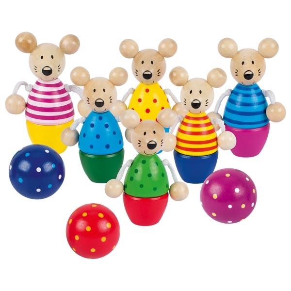 Joc de bowling pentru copii - Soricei - Goki