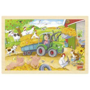 Puzzle pentru copii - Tractor mic - Goki