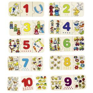 Puzzle pentru copii - Invata sa numeri - Goki
