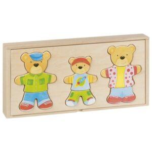 Puzzle - Imbraca familia de ursi - Goki