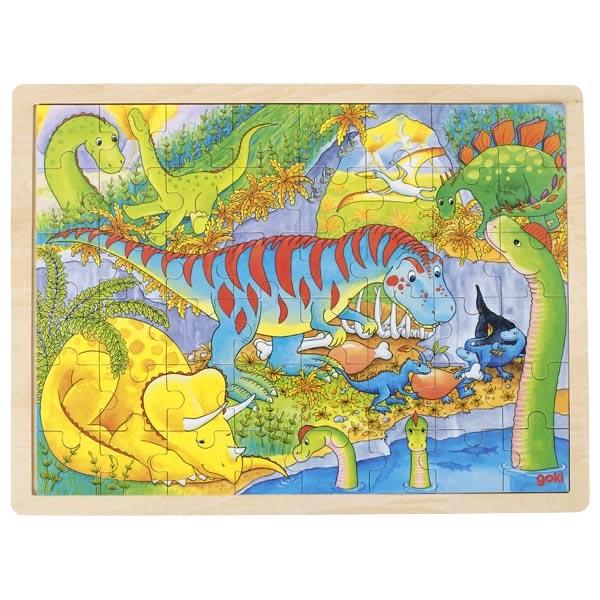 Joc de gandire - Puzzle Lumea Dinozaurilor - Goki