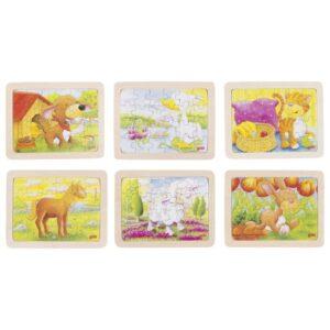 Joc de gandire - Puzzle Pui de Animale - Goki