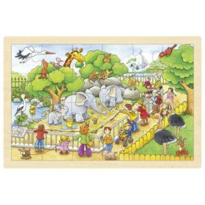 Puzzle pentru copii - Vizita la Zoo - Goki