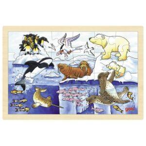 Puzzle pentru copii - Animale Arctice - Goki