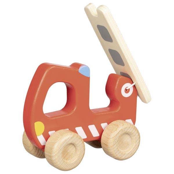 Jucarie din lemn - Masina de pompieri - Goki