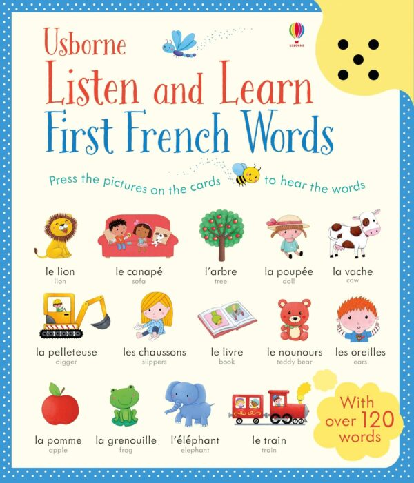 carte copii first french words