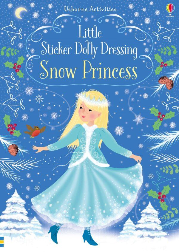 Carte pentru copii - Little Sticker Dolly Dressing Snow Princess - Usborne