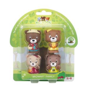 Set figurine joc de rol - Familia de ursuleti Browny - Klorofil