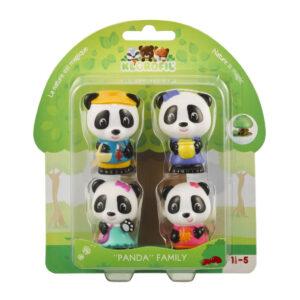 Set figurine joc de rol - Familia de ursuleti Panda - Klorofil